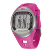 Soleus Tempo Womens Accelerometer Pink Silicone Strap Sport Watch