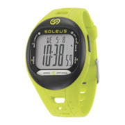 Soleus Tempo Womens Accelerometer Green Silicone Strap Sport Watch