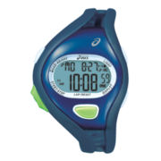 ASICS® Mens Entry Running 100-Lap Blue Chronograph Sport Watch