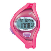 ASICS® Womens Entry Running 100-Lap Pink Chronograph Sport Watch