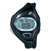 ASICS® Mens Entry Running 100-Lap Black Chronograph Sport Watch
