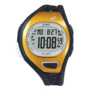 ASICS® Mens Entry Running 100-Lap Black/Gold-Tone Chronograph Sport Watch