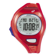 ASICS® Mens Entry Running 100-Lap Red Chronograph Sport Watch