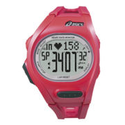 ASICS® Womens Heat Rate Monitor 300-Lap Pink Chronograph Sport Watch