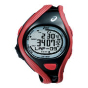 ASICS® Mens Super Challenge 500-Lap Red/Black Chronograph Sport Watch