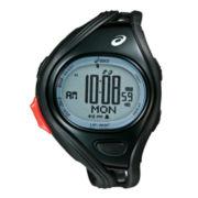 ASICS® Mens Super Challenge 500-Lap Black Chronograph Sport Watch