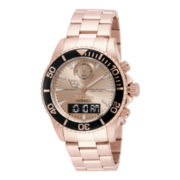 Invicta® Intrinsic Mens Analog-Digital Rose-Tone Stainless Steel Sport Watch