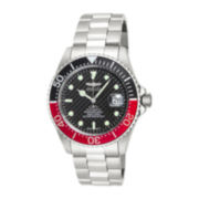 Invicta® Pro Diver Mens Red/Black Bezel Stainless Steel Automatic Sport Watch