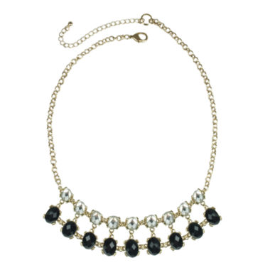 jcpenney.com | Mixit™ Black Stone & Rhinestone Statement Necklace