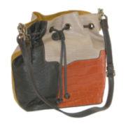 Buxton® Victoria Leather Drawstring Hobo Bag