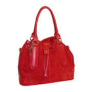 Buxton® Keira Leather Drawstring Hobo Bag