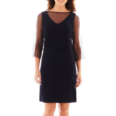 jcpenney.com | Stenay Long-Sleeve Beaded Popover Jersey Dress