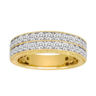 jcpenney.com | 1 CT. T.W. Certified Diamond 14K Yellow Gold Vintage-Style Wedding Band