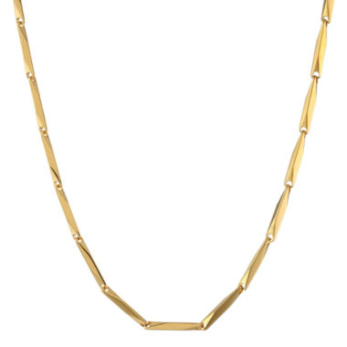 "jcpenney.com | Mens Stainless Steel & Gold-Tone IP 22"" 2mm Link Chain"