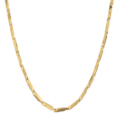 "jcpenney.com | Mens Stainless Steel & Gold-Tone IP 24"" 3mm Link Chain"