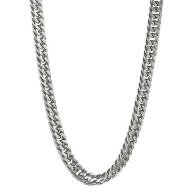 "jcpenney.com | Mens Stainless Steel 22"" 9mm Beveled Curb Chain"
