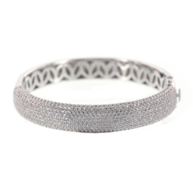 jcpenney.com | DiamonArt® Cubic Zirconia Sterling Silver Wide Bangle