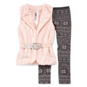 Knit Works 2-pc. Hooded Vest and Leggings Set - Girls 7-16