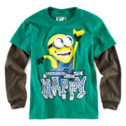 Despicable Me Minion Long-Sleeve Graphic Knit Tee – Boys 6-18