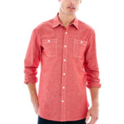 St. John's Bay® Long-Sleeve Chambray Shirt