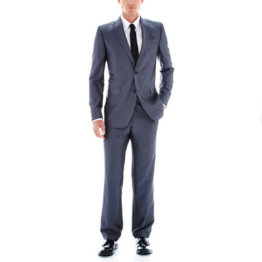 jcpenney.com | JFJ Ferrar Gray Luster Herringbone Slim Fit Suit Separates