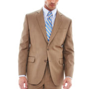 Stafford® Travel Tan Herringbone Suit Jacket - Classic Fit