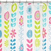 Floral PEVA Shower Curtain