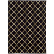 Oriental Weavers™ Lattice Black Rectangular Rug