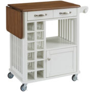 Campbell Rolling Kitchen Cart with Wine Rack