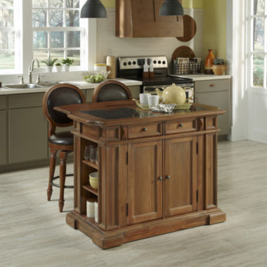jcpenney.com | Sherman Kitchen Island and Counter-Height Barstool Collection