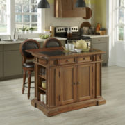 Sherman Kitchen Island and Counter-Height Barstool Collection