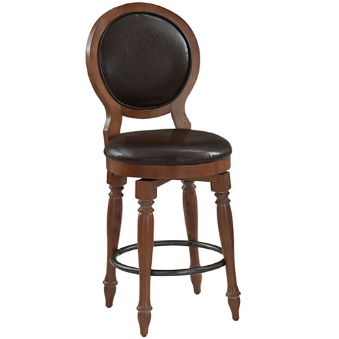 Sherman Counter-Height Upholstered Swivel Barstool