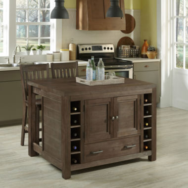 jcpenney.com | Weatherford Kitchen Island and Counter-Height Barstool Collection