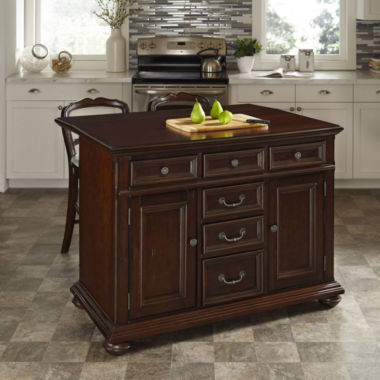 jcpenney.com | Roanoke Village Kitchen Island and Counter-Height Barstool Collection