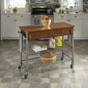 Landry Rolling Kitchen Cart with Towel Rack