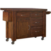 Mountain Lodge Kitchen Cart with Extension