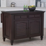 Dawson Extendable Kitchen Island with Granite Inset