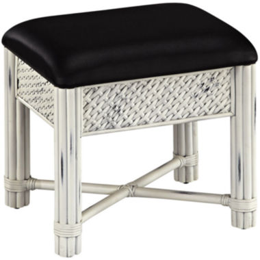 jcpenney.com | Lucia Wicker Upholstered Vanity Bench