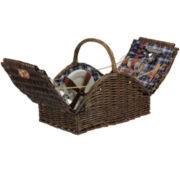Household Essentials® Willow Picnic Basket - Service for 4