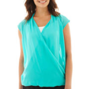 Worthington® Crossover Blouse