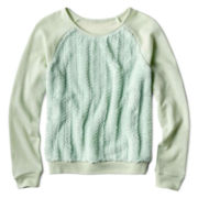 Heart N Crush Pullover with Faux Fur Front- Girls 7-16
