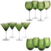 Cambria 12-pc. Beverageware Glass Set