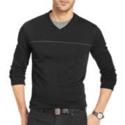 Van Heusen® Long-Sleeve Jaspé Doubler Knit Shirt