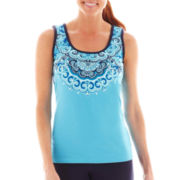 Made For Life™ Medallion Print Tank Top - Tall