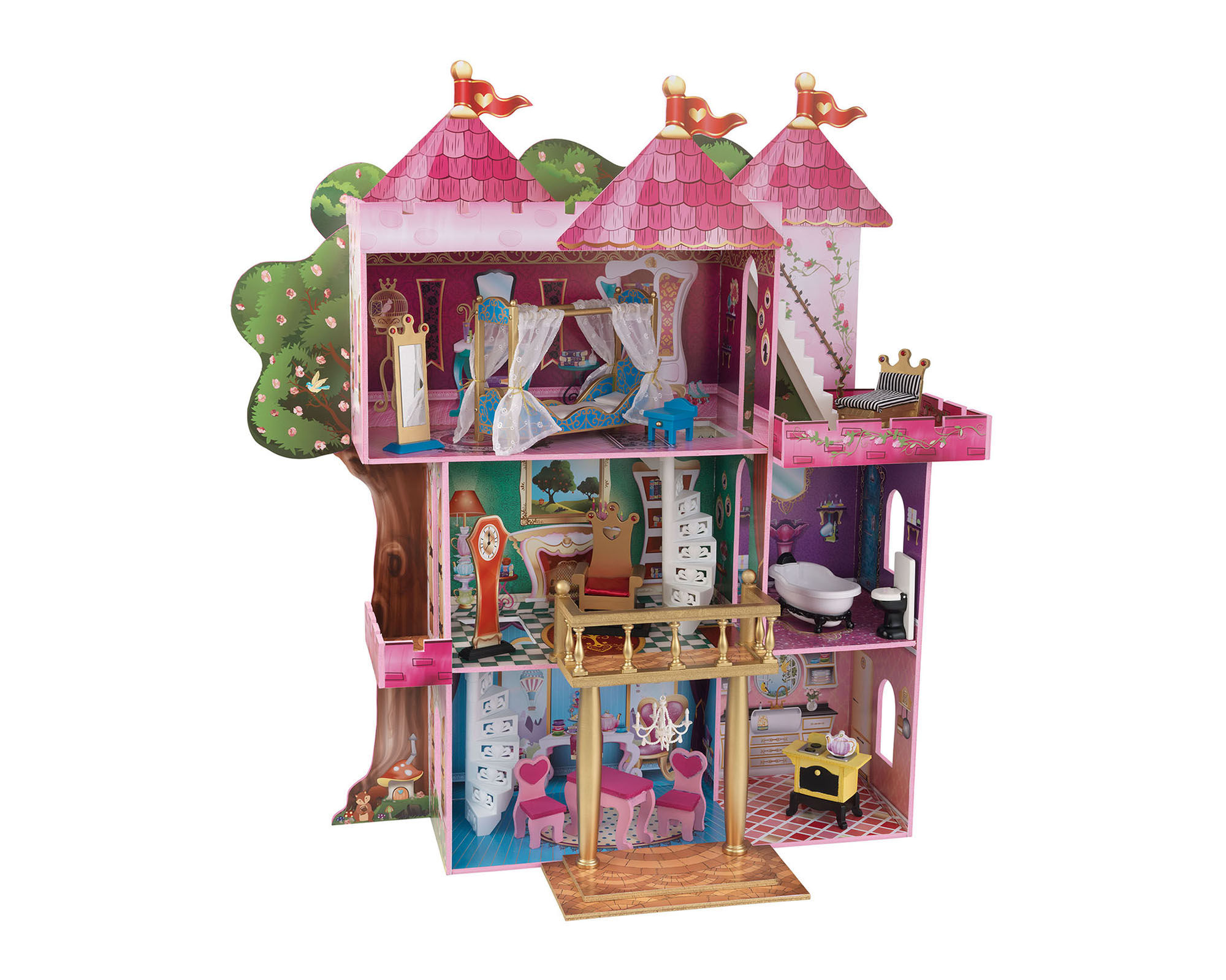 KidKraft Storybook Mansion Dollhouse with Furniture