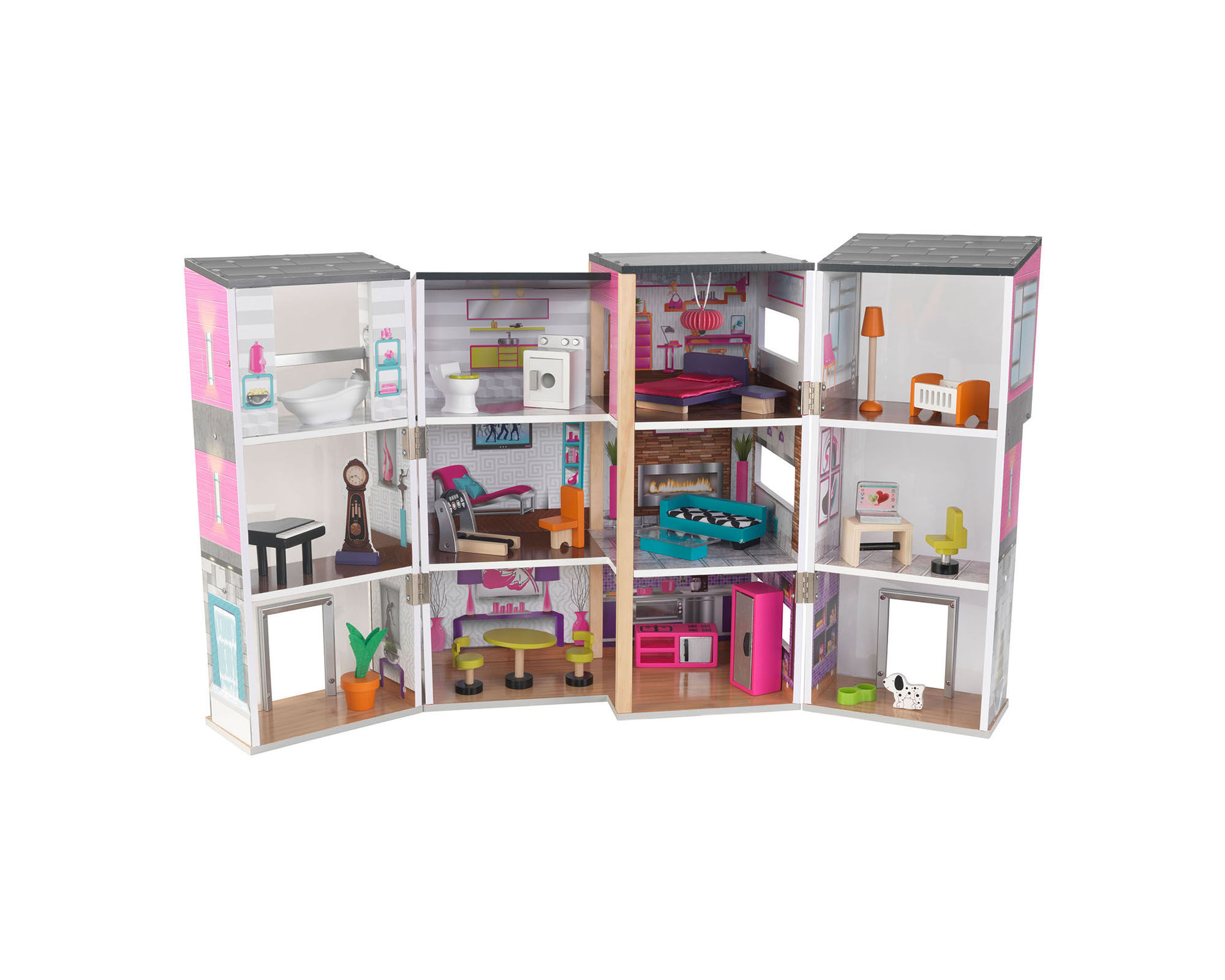 KidKraft Contemporary Deluxe Dollhouse with Furniture