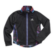 adidas® Full-Zip Warrior Jacket - Preschool Girls 4-6x