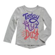 adidas® Graphic Raglan Tee - Preschool Girls 4-6x
