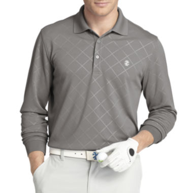jcpenney.com | IZOD® Golf Long-Sleeve Embossed Argyle Polo