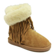 Lamo Fringe Wrap Girls Suede Boots - Little Kids/Big Kids